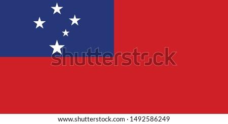 Flag of Samoa vector illustration