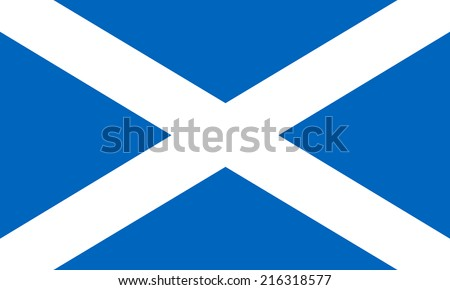flag of scotland illustration