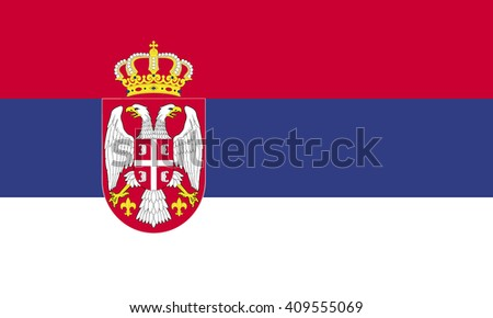flag of serbia vector graphics