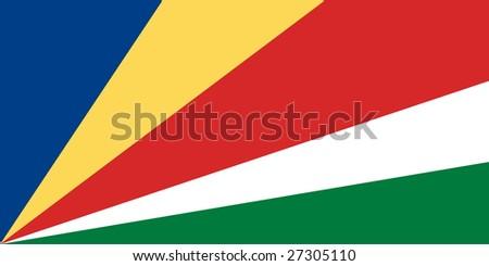 Flag of Seychelles. Illustration over white background