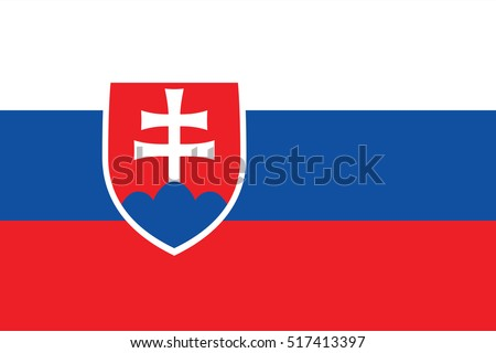 Flag of Slovakia. page symbol for your web site design Slovakia flag logo, app, UI. Slovakia flag Vector illustration, EPS10.