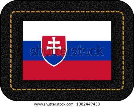 flag of slovakia vector icon