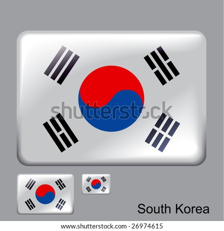 south and north korea flag. south and north korean flags.