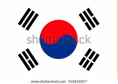 flag of south korea in correct