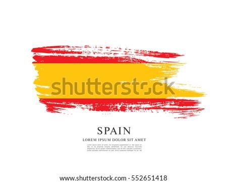 flag of spain  brush stroke