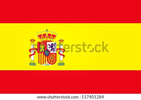 Flag of Spain with Emblem