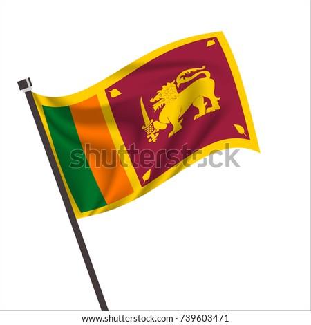 flag of Sri Lanka. Sri Lanka Icon vector illustration,National flag for country of Sri Lanka isolated, banner vector illustration. Vector illustration eps10.