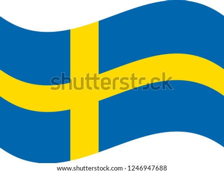 flag of sweden realistic