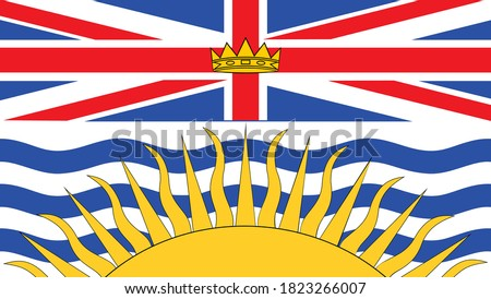 flag  of the canadian province of British Columbia vector illustration Foto stock ©