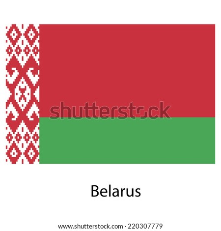 Flag  of the country belarus . Vector illustration.  Exact colors.