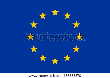 Flag of the European Union. Vector. Accurate dimensions, element proportions and colors.
