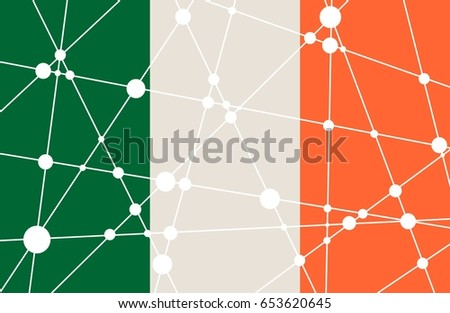 flag of the ireland low poly