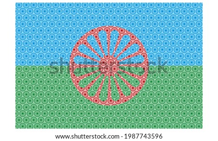 Flag Of The Romani People Gypsies Vector Illustration. Romani - Editable Vector. Flag of the Romani (Gypsy, Roma, Rom, Gipsy) people  Foto stock ©