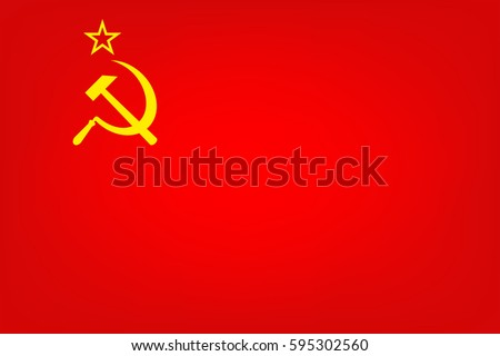 flag of the soviet union  vector