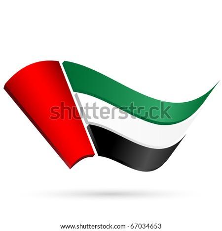 Flag of the United Arab Emirates on a white background
