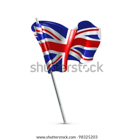 Flag of the United Kingdom, vector - stock vector