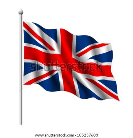 Flag of the United Kingdom, vector illustration