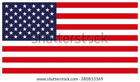 Flag of the United States. Colorful vector icon on white background. #380833369