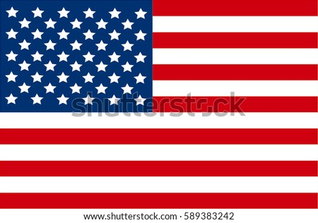 Flag of the United States of America.   #589383242
