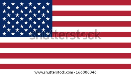 Flag of the United States of America. Vector. Accurate dimensions, element proportions and colors.