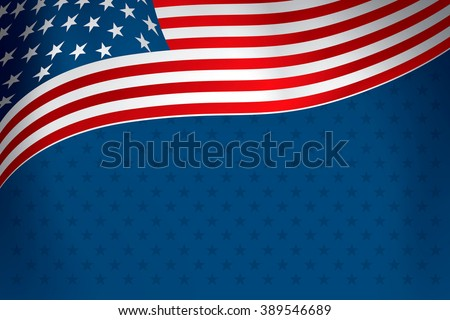 flag of the united states over