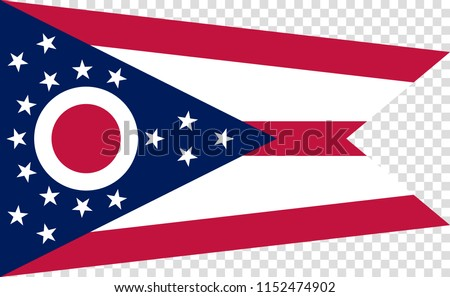 Flag of the US State of Ohio, detailed vector