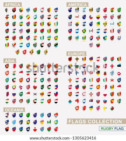 flag of the world in rugby