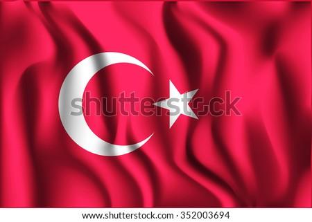 flag of turkey rectangular