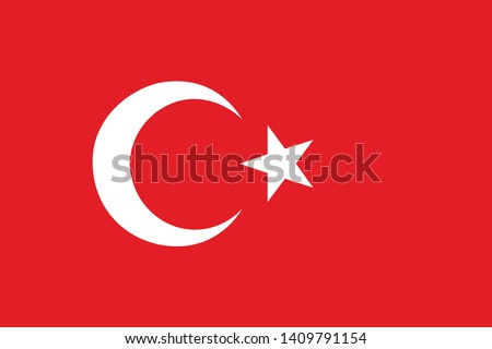 Flag of Turkey vector illustration