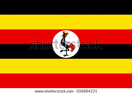 Shutterstock Flag of Uganda in correct size, proportions and colors. Accurate official standard dimensions. Ugandan national flag. African patriotic symbol, banner, element, background. Vector illustration
