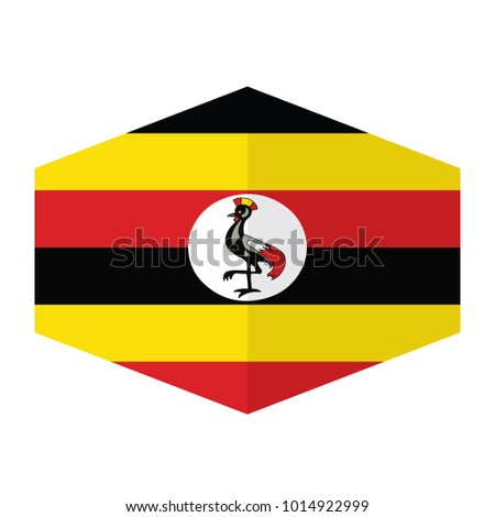 Shutterstock flag of Uganda,vector illustration of Uganda flag, official colors and proportion correctly. National Flag of Uganda, A Flag Illustration within a Sign of the country of Uganda.