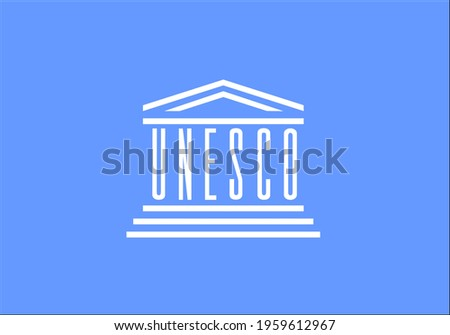 flag of unesco vector - editable flags and maps Foto stock ©