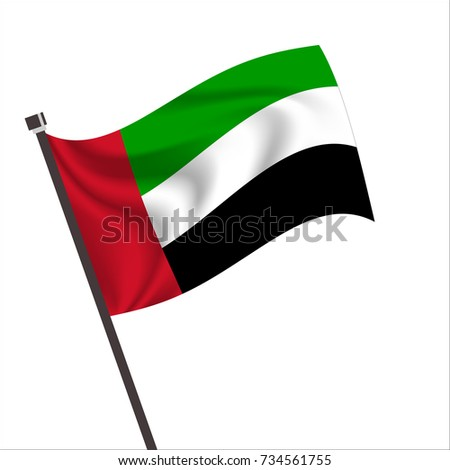 Flag of United Arab Emirates, United Arab Emirates Icon vector illustration,National flag for country of United Arab Emirates isolated, banner vector illustration. Vector illustration eps10.