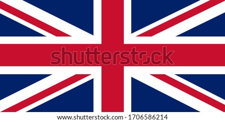 Flag of United Kingdom. Vector
