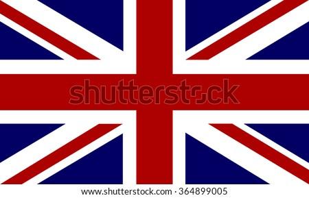 Flag of United Kingdom - vector Foto stock ©