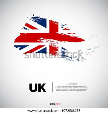 flag of united kingdom with