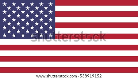 Flag Of United States Of America. EPS10 vector.