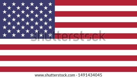 Flag of United States of America, National United States of America flag, The capital city is Washington, D.C.