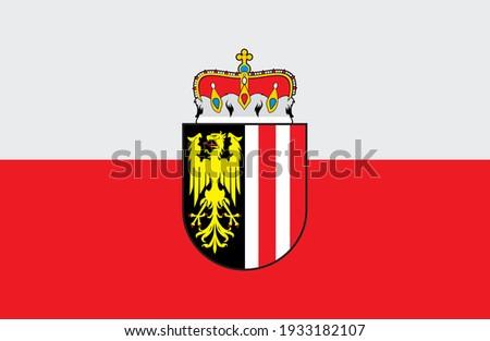 flag of Upper Austria vector illustration ストックフォト ©
