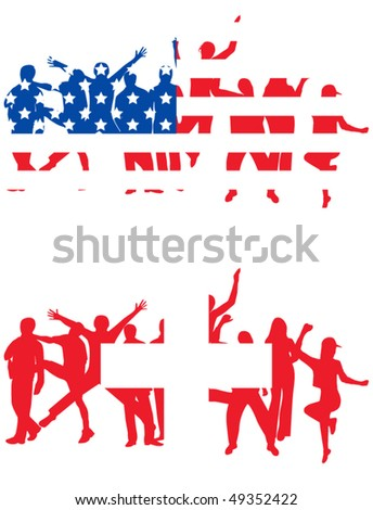 flag of usa and switzerland and