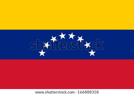 Flag of Venezuela. Civil variant. Vector. Accurate dimensions, element proportions and colors. Stockfoto ©