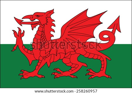 flag of walesvector