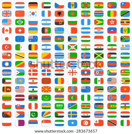 flag of world vector icons