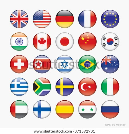 Flag of world, Vector icons