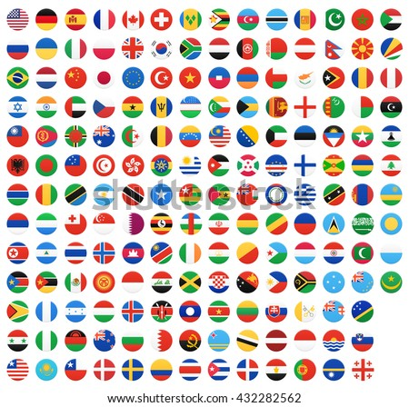 Flag of world. Vector icons #432282562