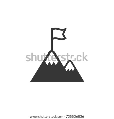 Flag on the top of Mountain