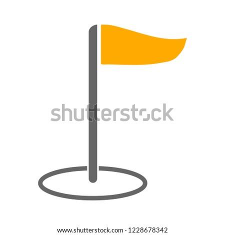 Flag pointer sign icon. Location marker symbol
