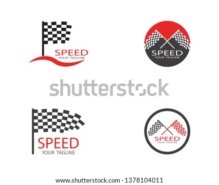 Flag race icon vector illustration