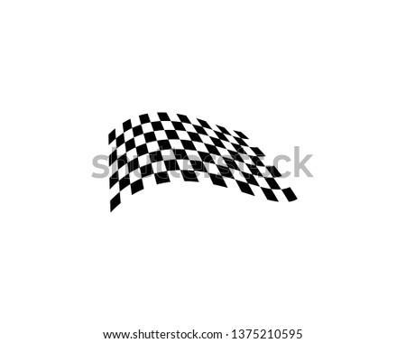 Flag race vector icon illustration #1375210595
