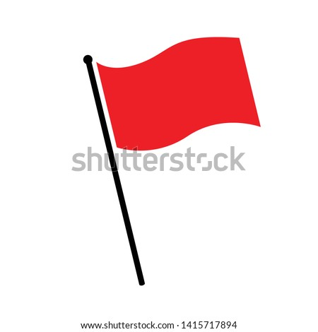 flag red icon sign vector isolated on white background Illustration #1415717894